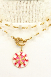The Woods Fine Jewelry  Moonstone Necklace Long - Product Mini Image