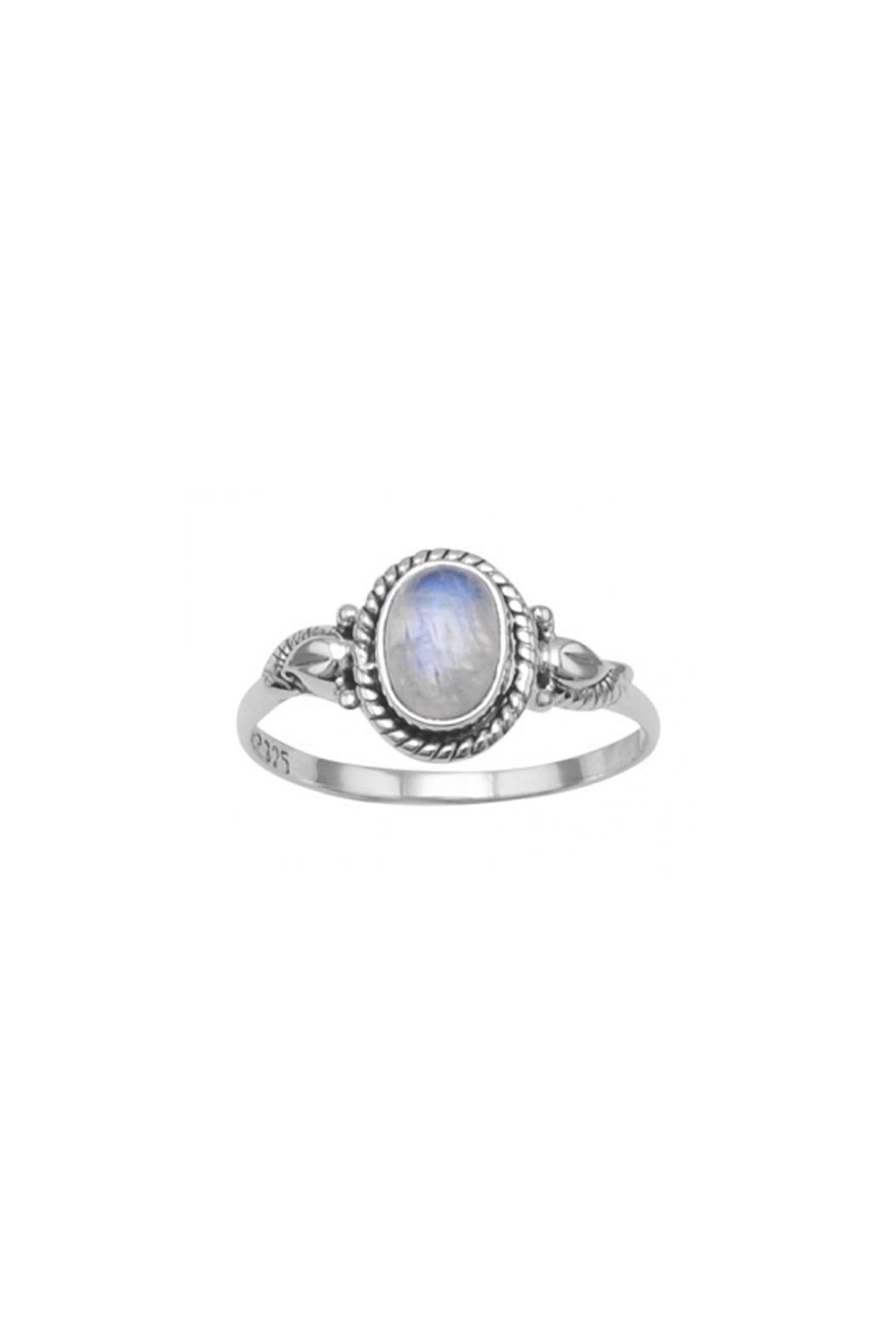Wild Lilies Jewelry  Moonstone Silver Ring - Front Full Image