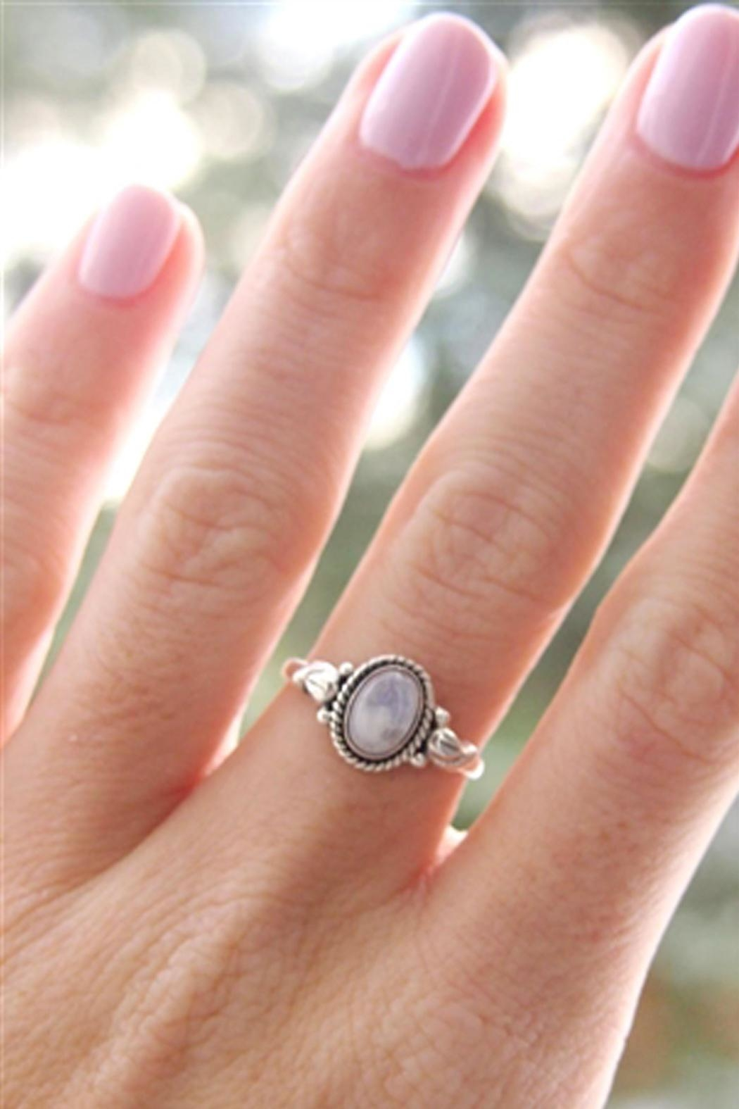 Wild Lilies Jewelry  Moonstone Silver Ring - Main Image