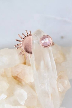 Shoptiques Product: Moonstone Sun & Moon Ring
