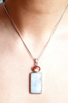 Crystal Earth Moonstone/Sunstone Pendant - Alternate List Image