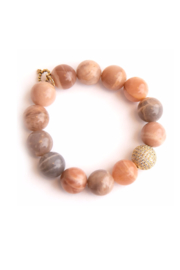 Powerbeads by Jen Moonstone with Gold Pave Bead - Product Mini Image