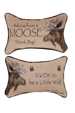 Manual Woodworkers and Weavers Moose Advice Pillow - Product List Image