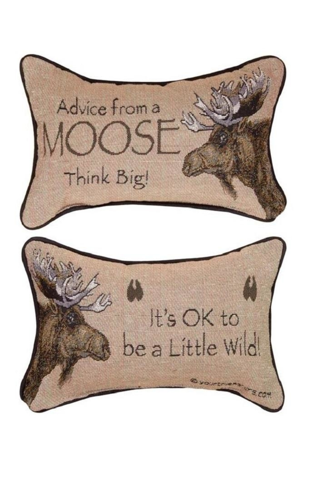 Manual Woodworkers and Weavers Moose Advice Pillow - Main Image