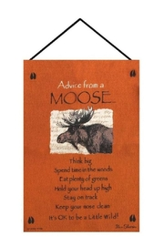 Manual Woodworkers and Weavers Moose Advice Tapestry - Product Mini Image