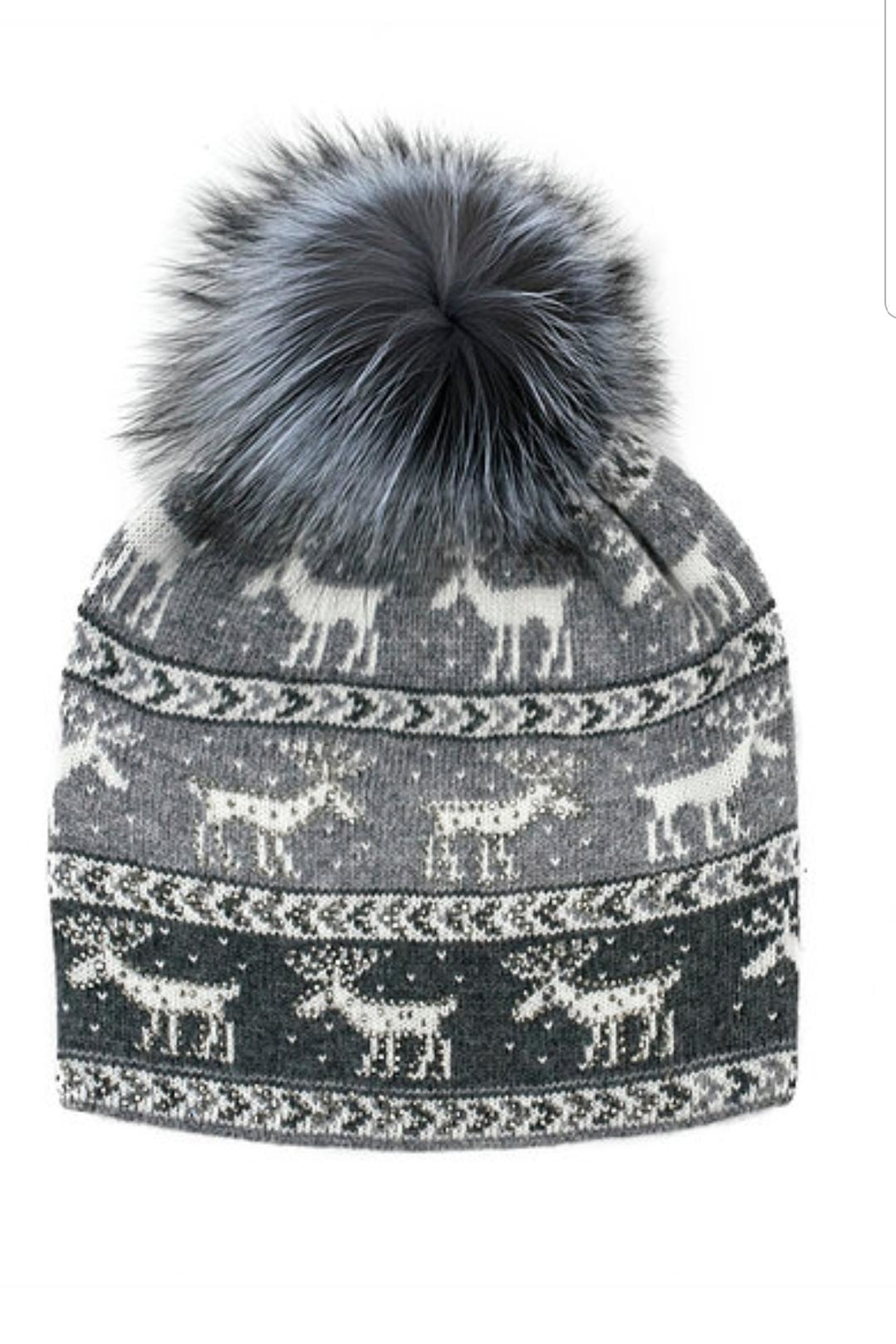 Mitchies Matching Moose Crossing Hat - Front Cropped Image