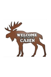 Rustic Ironwerks Moose Silhouette Cabin Sign - Product Mini Image