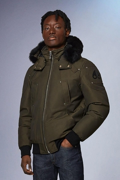 Moose Knuckles  Ballistic Bomber Army With Black Fur - Product List Image