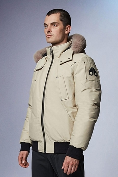 Moose Knuckles  Ballistic Bomber Bone With Stoned Fur - Product List Image