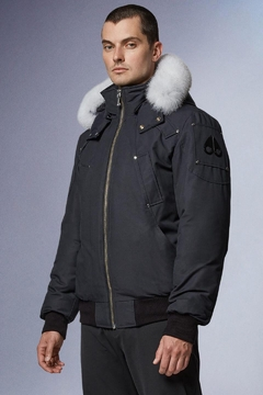 Moose Knuckles  Ballistic Bomber Navy With Natural Fur - Product List Image