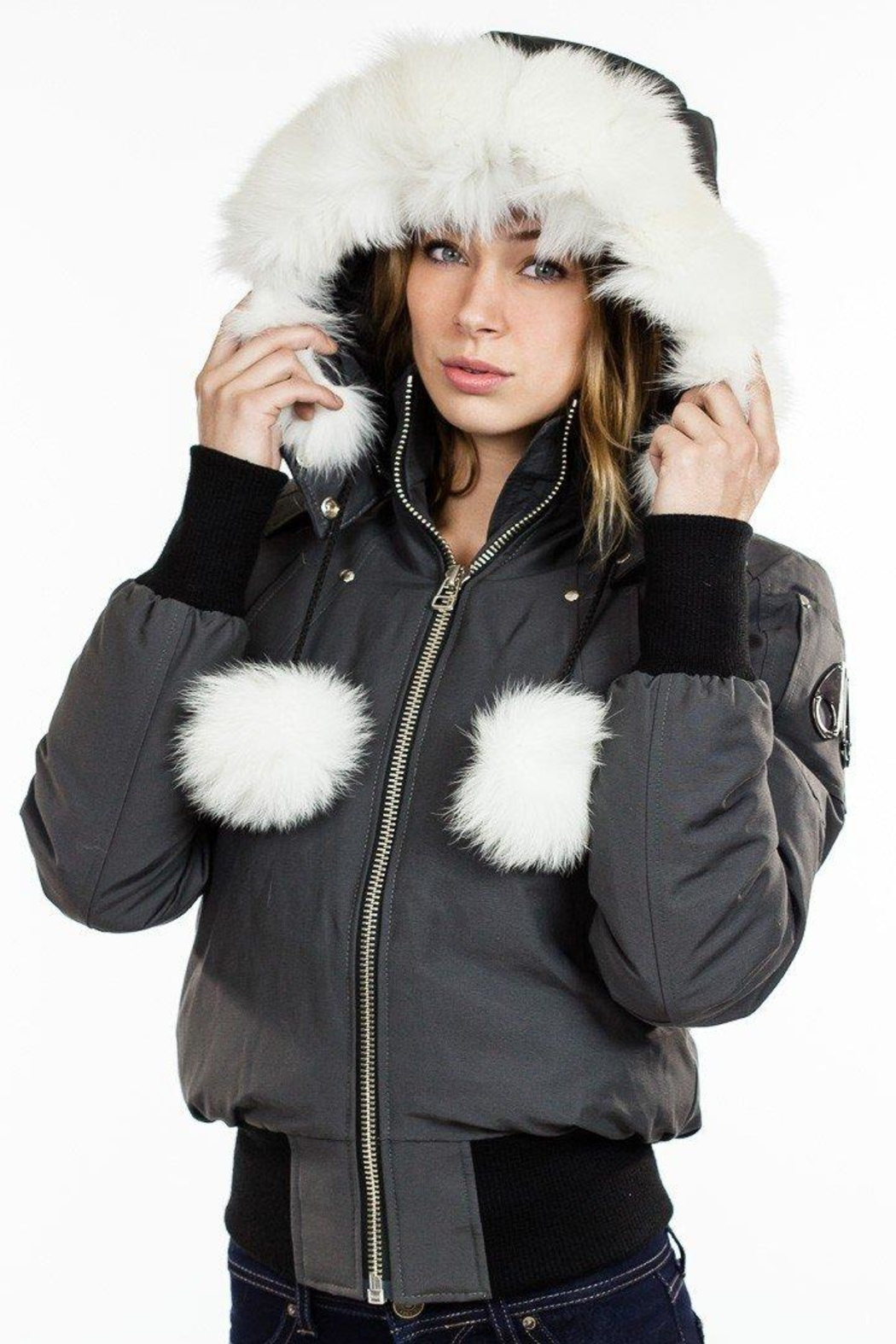b5535d755 Moose Knuckles Debbie Bomber Grey from Toronto by Room 29 — Shoptiques