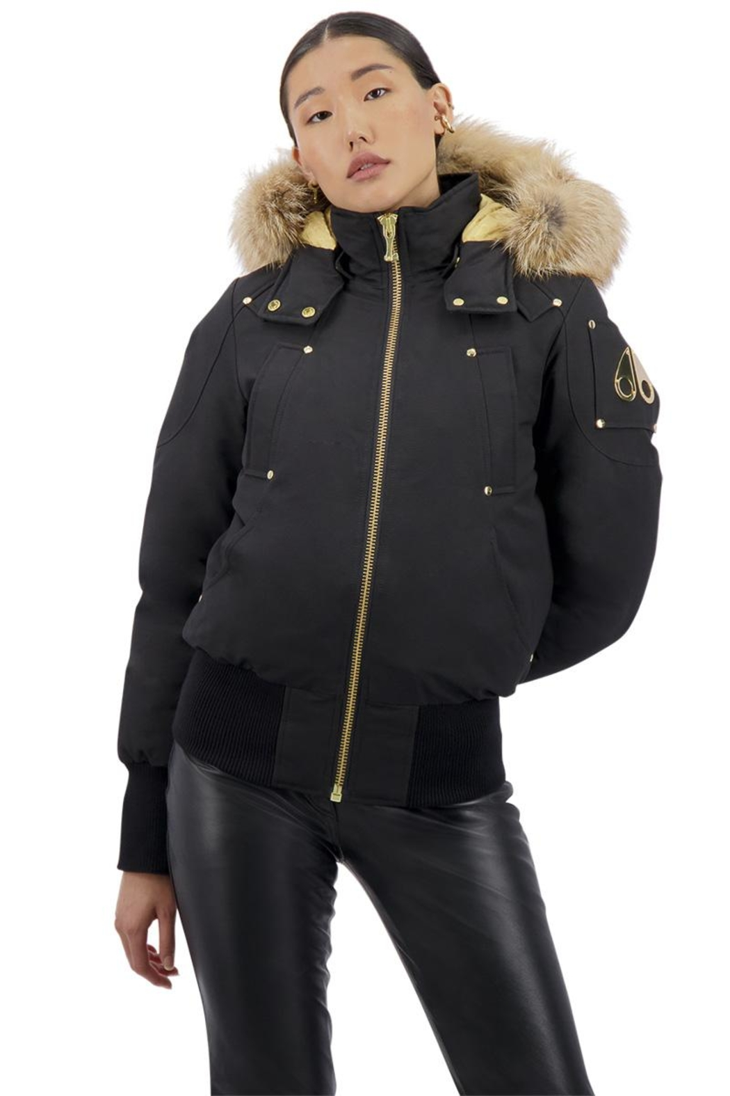 Moose Knuckles  Sainte Flavie Ladies Bomber - Side Cropped Image