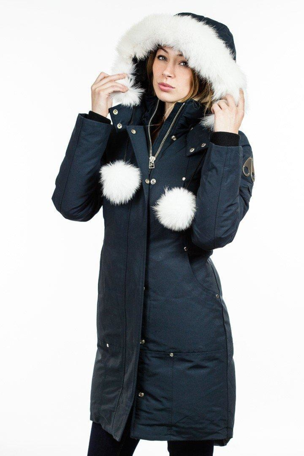 Moose Knuckles  Stirling Parka Navy - Front Cropped Image