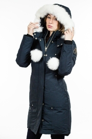 Moose Knuckles  Stirling Parka Navy - Front cropped