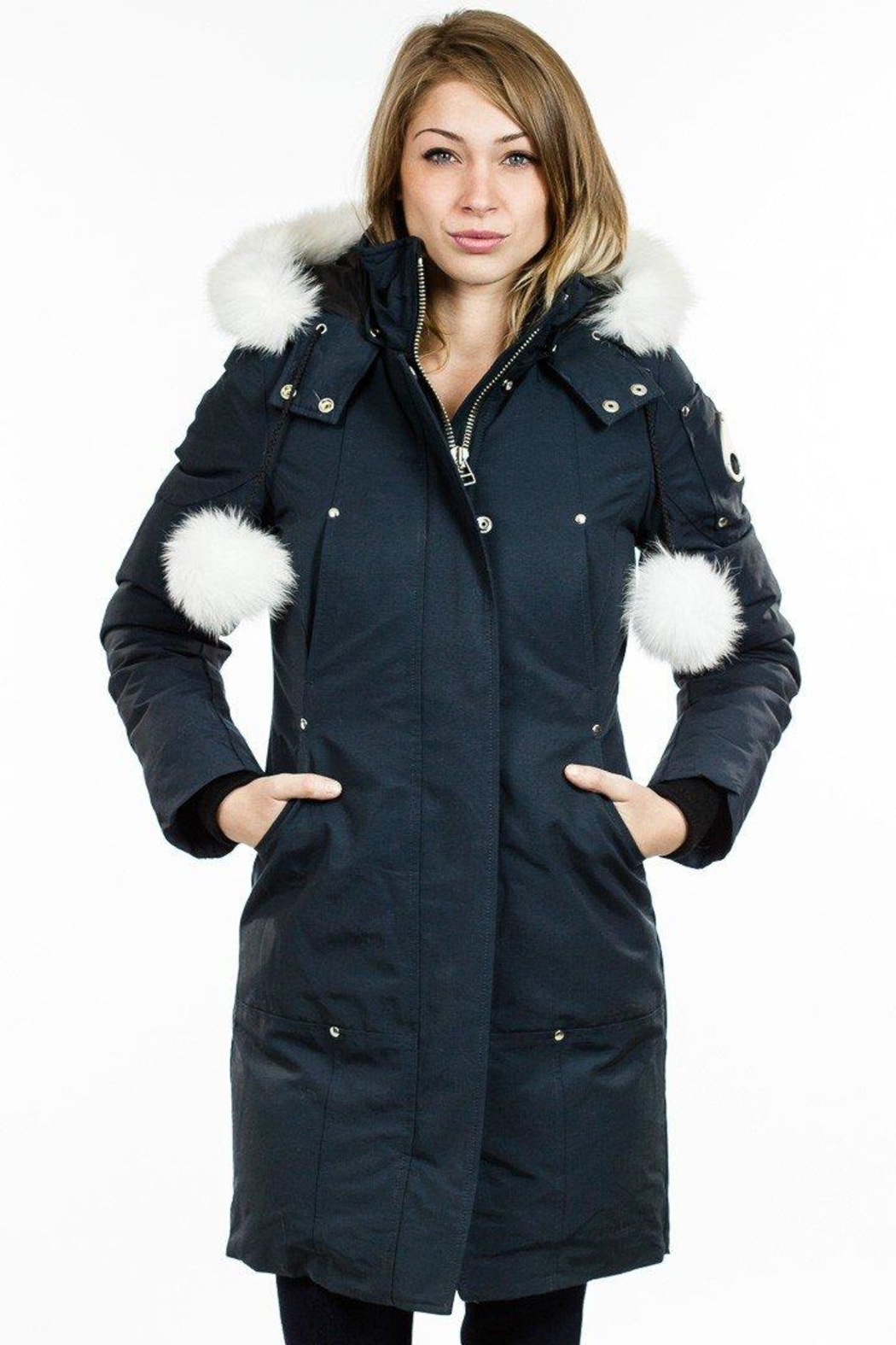 Moose Knuckles  Stirling Parka Navy - Front Full Image