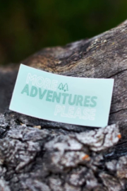 Live Life Clothing Co More Adventures Please Decal - Product Mini Image