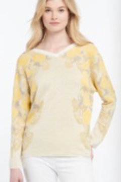Nic + Zoe More ways to wear reversible sweater! Front to back reversible. Lightweight pullover. Long sleeves. - Product List Image