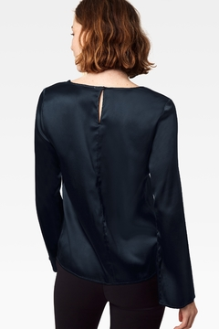Ecru Moreau Drape Front Top, Dark Forest - Alternate List Image