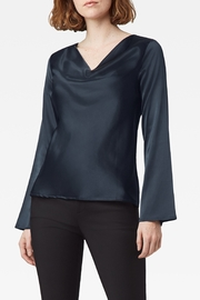 Ecru Moreau Drape Front Top - Product Mini Image