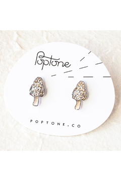 Poptone Co. Morel Mushroom Stud Earrings - Product List Image