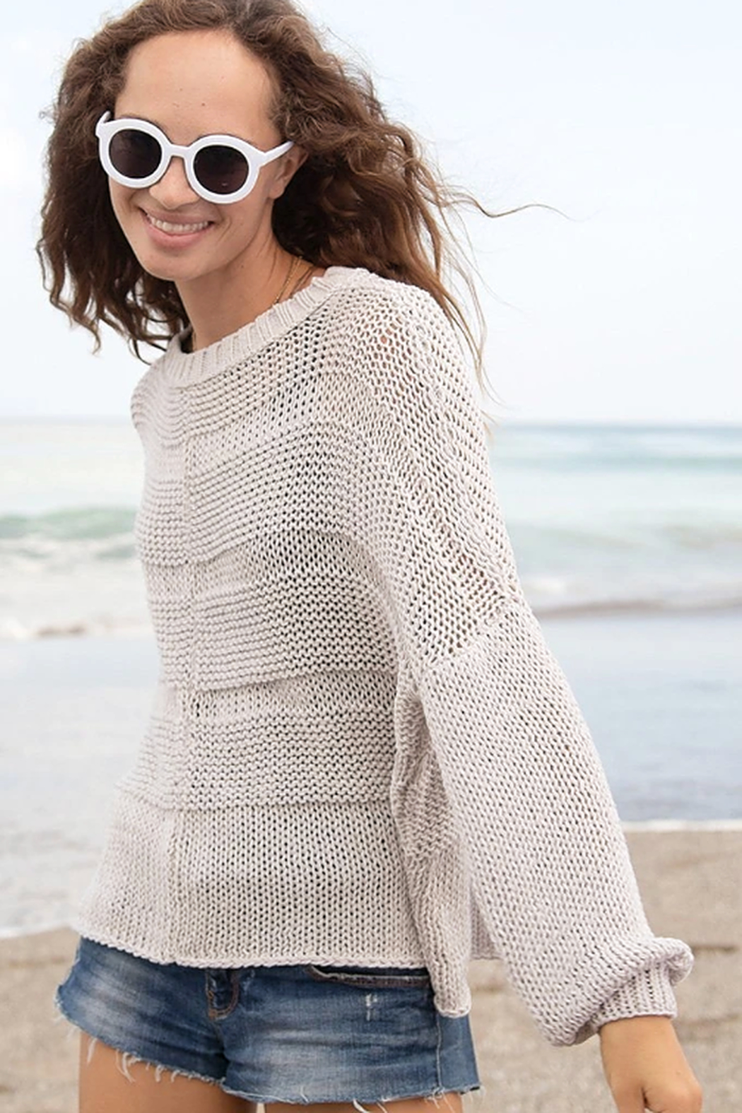 Wooden Ships Morgan Crewneck Sweater - Side Cropped Image