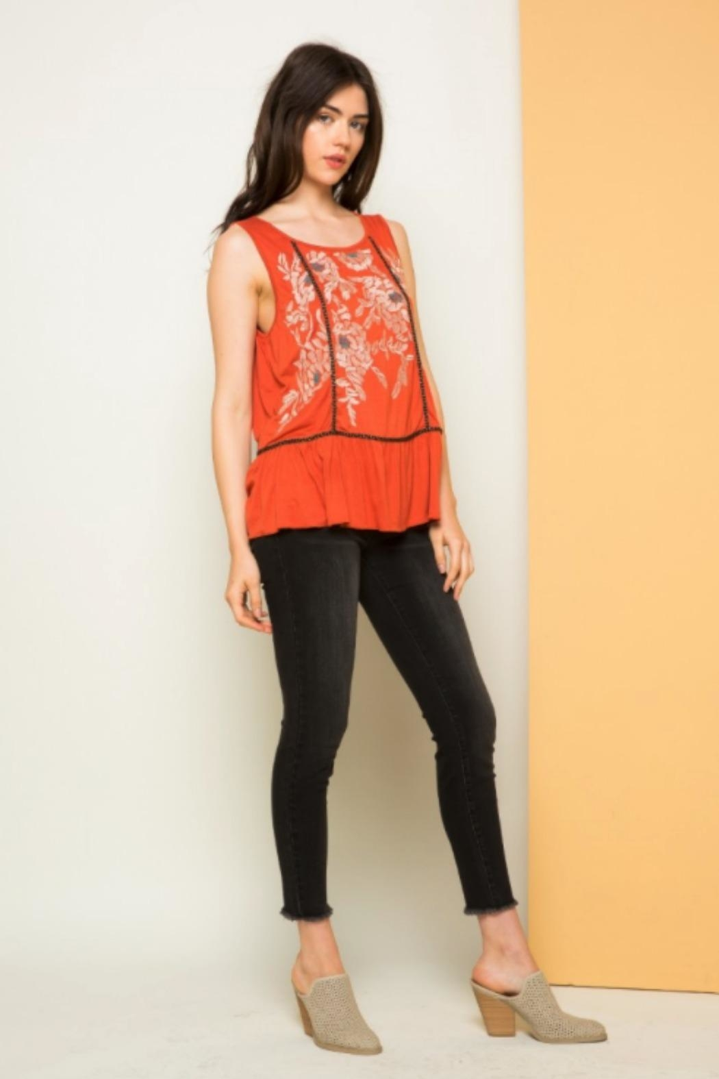 THML Clothing Morgan Embroidered Tank - Side Cropped Image