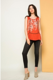THML Clothing Morgan Embroidered Tank - Front cropped