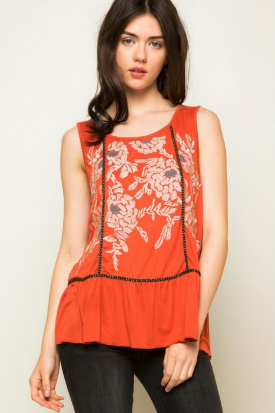THML Clothing Morgan Embroidered Tank - Front Full Image