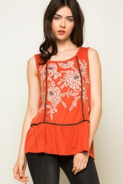 THML Clothing Morgan Embroidered Tank - Front full body