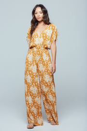 Band Of Gypsies MORGAN FLORAL JUMPSUIT - Front cropped