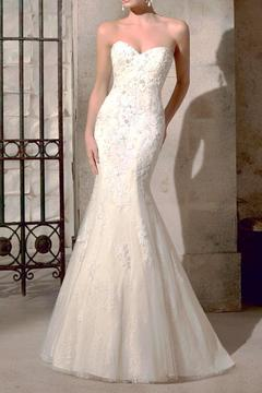 Shoptiques Product: Strapless Mermaid Bridal Gown