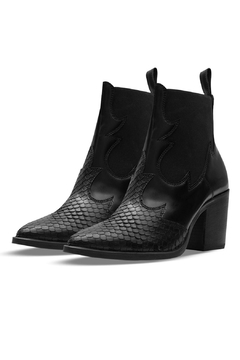 Morkas Shoes Ankle Bootie Black Snake - Product List Image