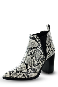 Morkas Shoes Ankle Bootie Latte Snake Etched - Product List Image