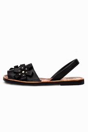 Morkas Shoes Avarca Black Flowers - Front cropped