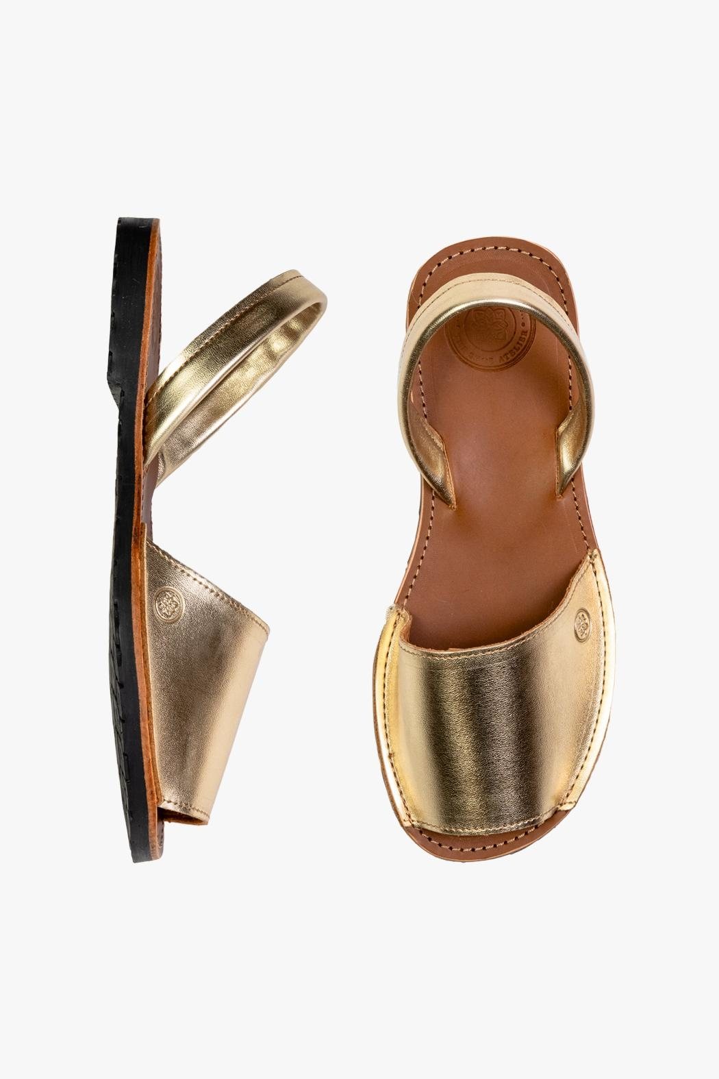 Morkas Shoes Avarca Gold - Front Full Image