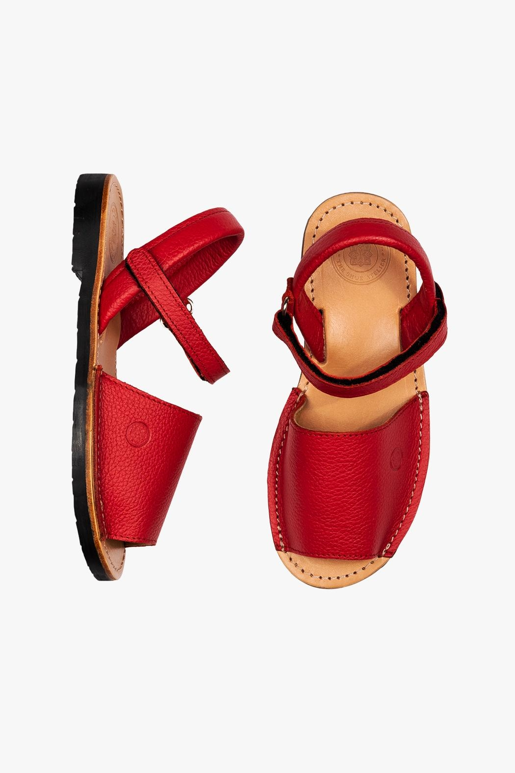 Morkas Shoes Avarca Kids Red - Front Full Image