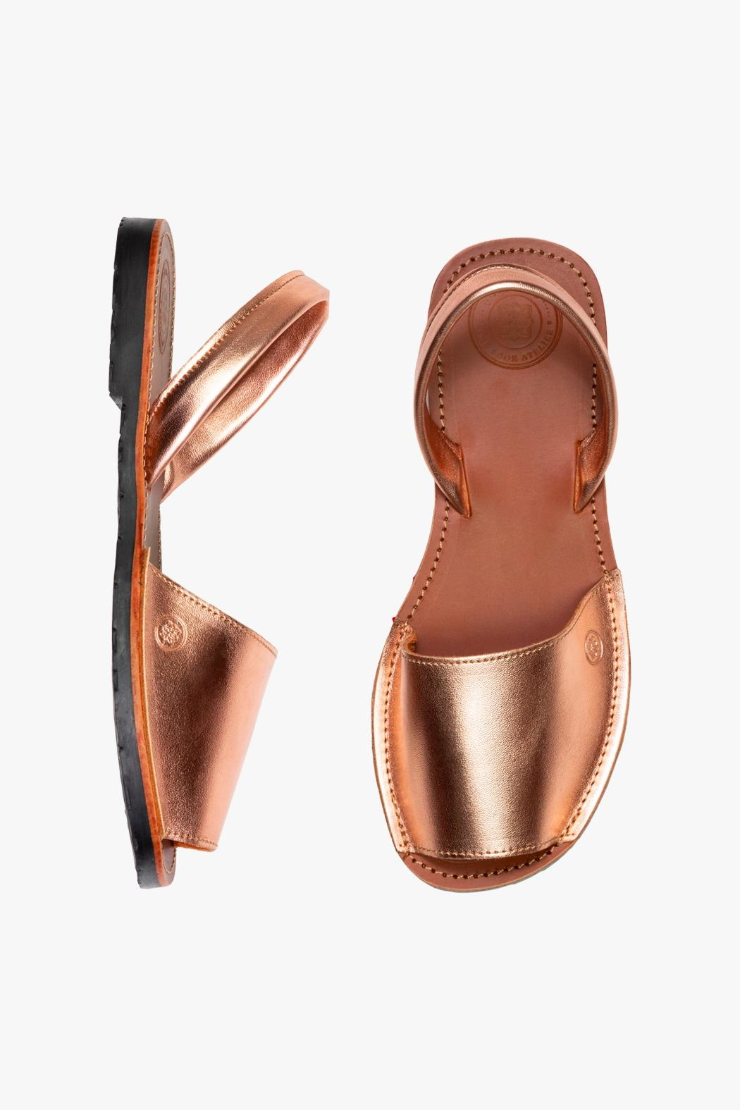 Morkas Shoes Avarca Rose Gold - Front Full Image