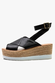 Morkas Shoes Black Leather Espadrille - Product Mini Image