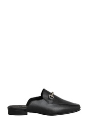 Morkas Shoes Black Mules Sydney - Front full body