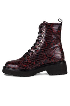 Morkas Shoes Combat Boot Wine Snake - Product List Image