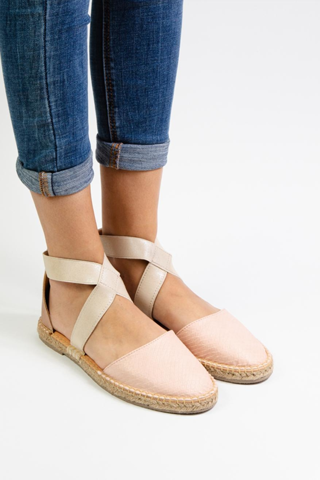 Morkas Shoes Cross Pink Espadrille - Front Full Image