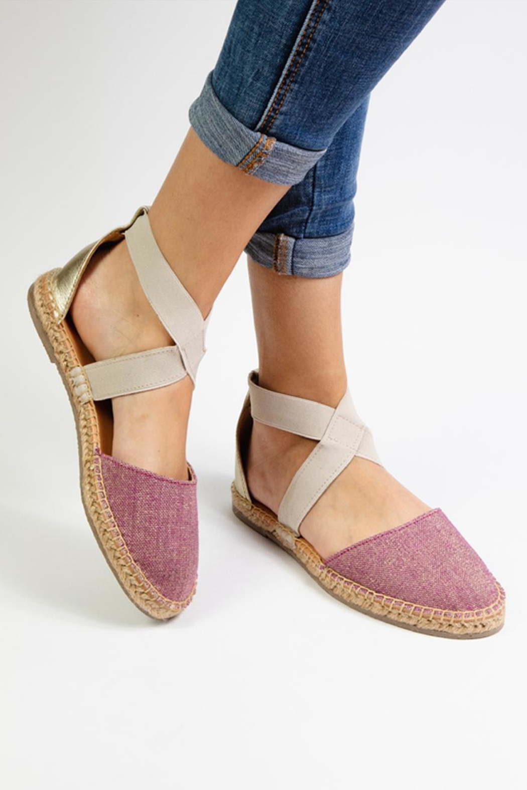 Morkas Shoes Espadrille Cross Shine - Side Cropped Image