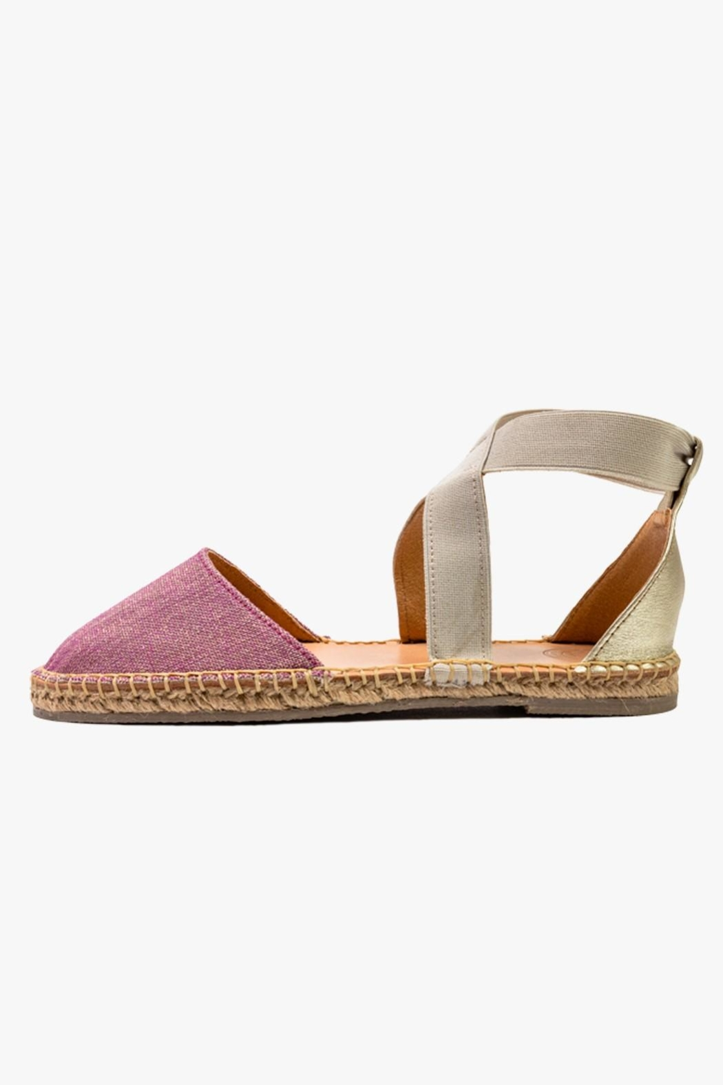 Morkas Shoes Espadrille Cross Shine - Front Cropped Image