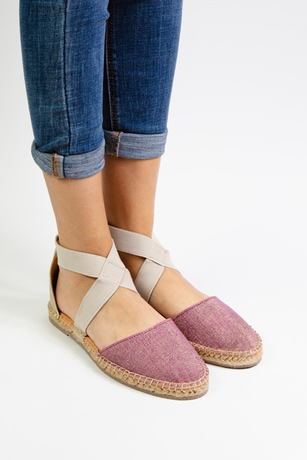 Morkas Shoes Espadrille Cross Shine - Front Full Image