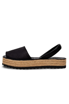 Morkas Shoes Espadrille Up Black On Black - Product List Image