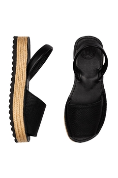Morkas Shoes Espadrille Up Black On Black - Alternate List Image