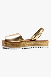 Morkas Shoes Gold Synthetic Espadrille Sandal - Product Mini Image