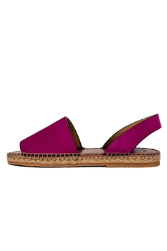 Morkas Shoes Hand Sewn Purple Suede Espadrilles - Product List Image