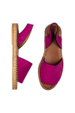 Morkas Shoes Hand Sewn Purple Suede Espadrilles - Alternate List Image