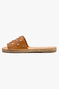 Morkas Shoes Just Almond Leather Slides - Product List Image